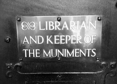 Librarian and Keeper of the Muniments Sign - Westminster Abbey